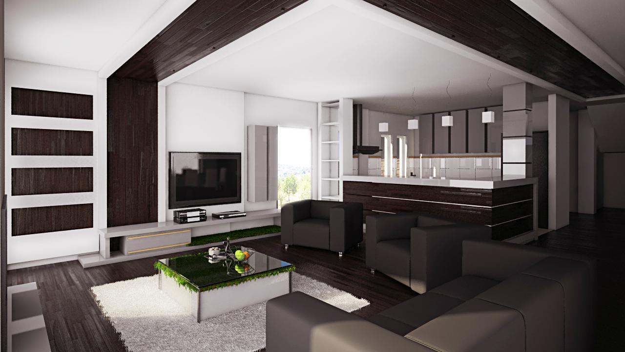 3d-Architekturvisualisierung Wohnraum