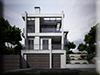 3d Visualisierung Wohnhaus Strassenansicht Tageslichtstudie