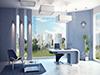 3d visualisierung modernes Büro