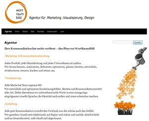 Webseite der Agentur Wortraumbild