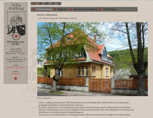Webseite der Familie Philip und der Villa Frübing