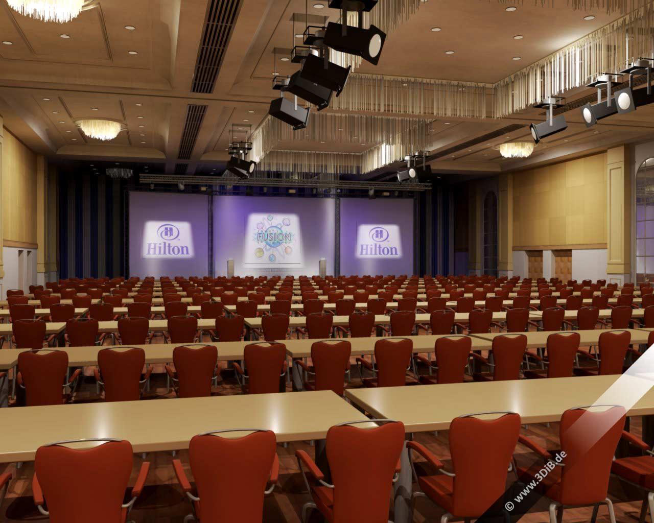 Eventvisualisierung Hilton Ballsaal