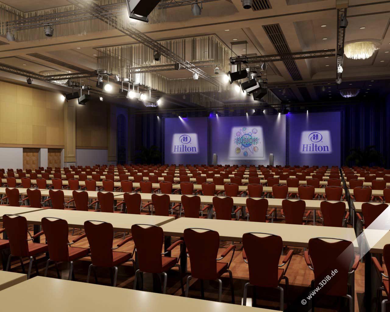Eventvisualisierung-Hilton-3D-Visualisierung-Konferenzsetup-Veranstaltungsplanung