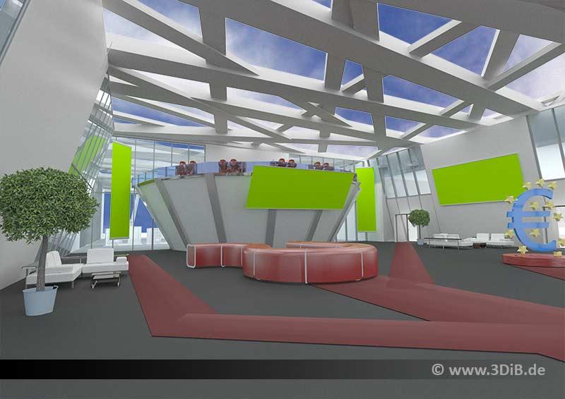3D Visualisierung Messebau Messeempfang