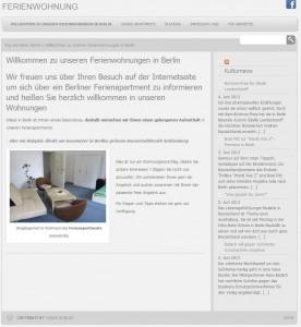 Webseite der Ferienwohnungen Berlin-City-Apartment.de