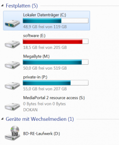 Festplattenpartitionen unter Windows 7