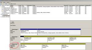 Importierte SATA HDD